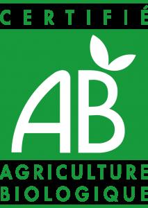 Logo AB , pour Agriculture Biologique.