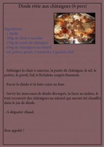 recette dinde rôtie aux châtaignes