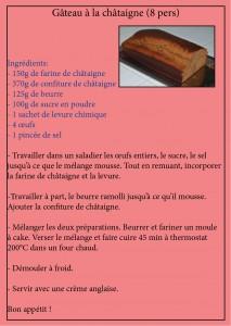 recette gâteau châtaigne