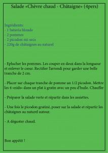recette salade Ardèchoise