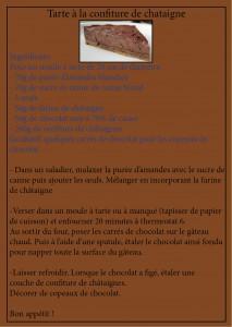 recette tarte châtaigne