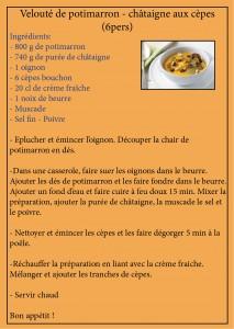 recette velouté potimarron châtaigne